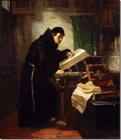 Martin Luther Discovering Justification by Faith (Martinho Lutero Descobrindo a Justificação pela Fé), 1868, Edward Matthew Ward