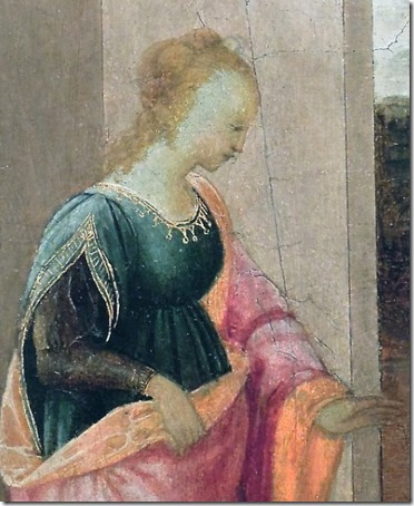DETAIL: Vashti the Queen leaves the Royal Palace (Queen Vashti leaves Assuero palace / La regina Vasti lascia il palazzo reale / A Rainha Vasti deixa o Palácio Real), 1480, Filippino Lippi
