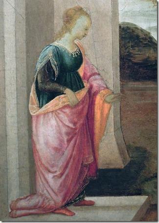DETAIL: Vashti the Queen leaves the Royal Palace (Queen Vashti leaves Assuero palace / La regina Vasti lascia il palazzo reale / A Rainha Vasti deixa o Palácio Real), 1480, Filippino Lippi