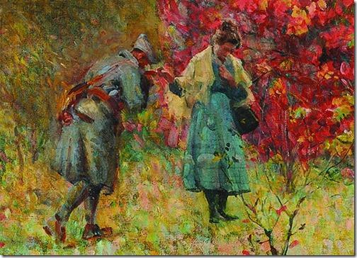 DETAIL: Volta às Trincheiras (Back to the Trenches), ca. 1917, Eliseu Visconti