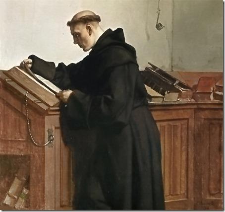 Luther discovers the Bible (Luther entdeckt die Bibel / Luther a découvert la Bible / Lutero Descobre a Bíblia), 1872, Wilhelm Ferdinand Pauwels