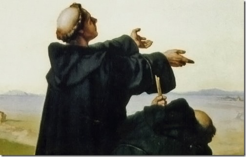 DETAIL: Luther sees Rome (Luther sieht Rom / Luther in Rom / Lutero avista Roma), 1872, Wilhelm Ferdinand Pauwels