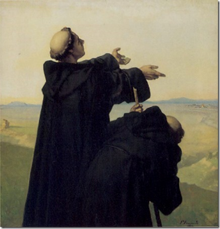 Luther sees Rome (Luther sieht Rom / Luther in Rom / Lutero avista Roma), 1872, Wilhelm Ferdinand Pauwels