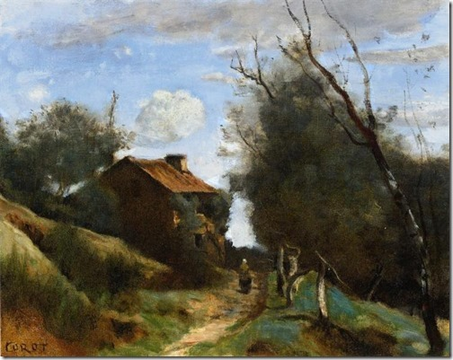 Path Towards A House In The Countryside (Chemin conduisant vers une maison dans la campagne / Caminho para uma casa no campo), 1862-1864, Jean-Baptiste-Camille Corot
