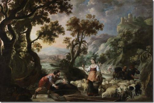 The Meeting of Jacob and Rachel at the Well (Encuentro de Jacob y Raquel en el Pozo), ca. 1660-1665, Bartolomé Esteban Murillo