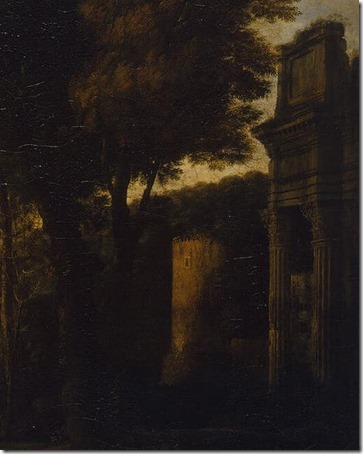 DETAIL: Landscape with Christ on the Road to Emmaus (Христос на пути в Эммаус / Paisagem com Cristo no Caminho de Emaús), 1660, Claude Lorrain