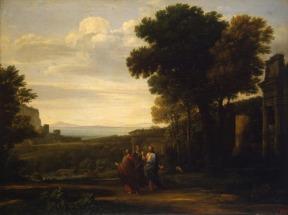 Paisagem com Cristo no Caminho de Emaús – Claude Lorrain