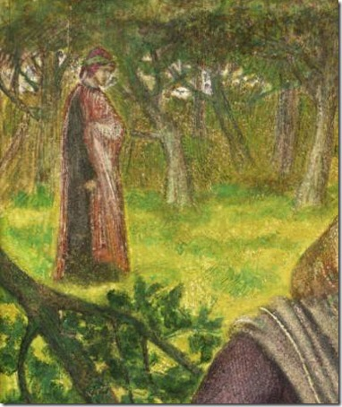 DETAIL: Dante's Vision of Rachel and Leah (данте габриэль россетти рахиль и лия / La visione di Dante, Rachele e Lia / A visão de Dante de Raquel e Leia), 1855, Dante Gabriel Rossetti