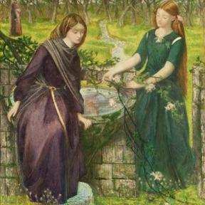 A visão de Dante de Raquel e Leia – Dante Gabriel Rossetti