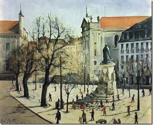 Largo de Camões (Lisboa), 1932, Abel Manta
