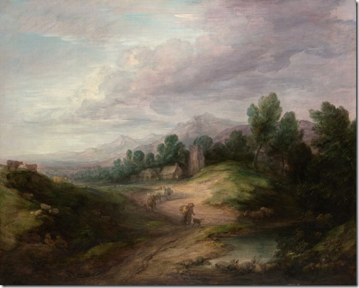 Wooded Upland Landscape (Paisagem Arborizada em Região Montanhosa), probably 1783, Thomas Gainsborough