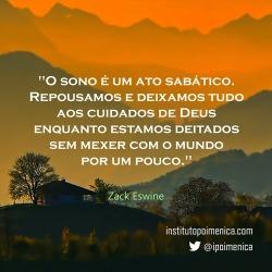 """Sono Sabático"" – Zack Eswine"