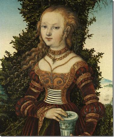 DETAIL: St. Mary Magdalen (Die heilige Maria Magdalena / Maria Madalena), 1525, Lucas Cranach the Elder