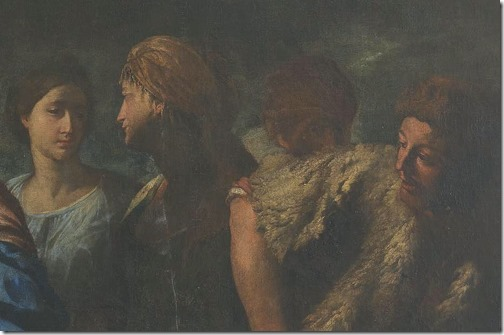 DETAIL: Meeting of Isaac and Rebecca (Encuentro de Isaac y Rebeca / Encontro de Isaque e Rebeca), ca. 1640, Andrea Vaccaro