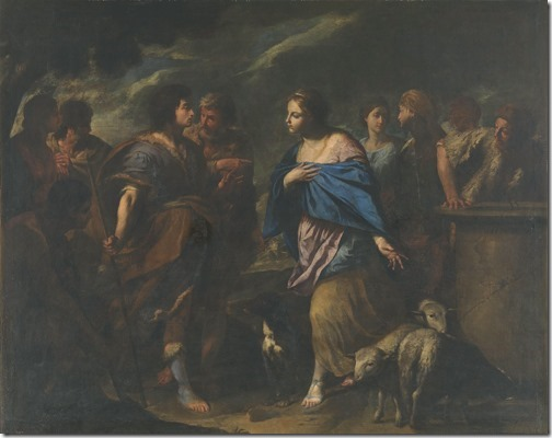 Meeting of Isaac and Rebecca (Encuentro de Isaac y Rebeca / Encontro de Isaque e Rebeca), ca. 1640, Andrea Vaccaro