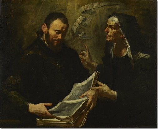 "Saint Augustine and Saint Monica (""Santo Agostinho e Santa Mônica""), 17th century, Gioacchino Assereto"