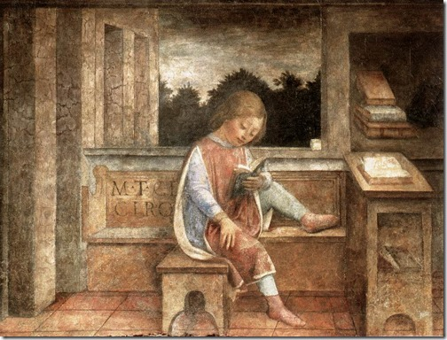 The Young Cicero Reading (A leitura do jovem Cícero), ca. 1464, Vincenzo Foppa