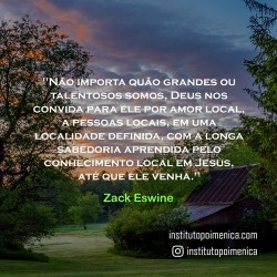 Pastores locais – Zack Eswine