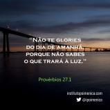 Gloriar-se do dia de amanhã