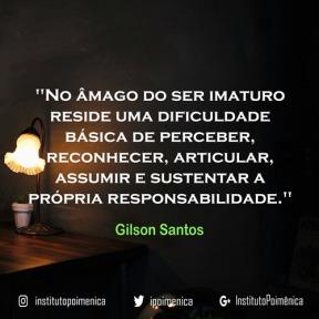 Imaturidade e Responsabilidade – Gilson Santos