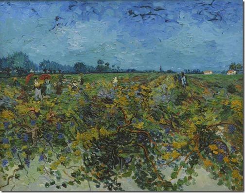 The green vineyard (Der grüne Weinberg / A vinha verde), Arles, September 1888, Vincent van Gogh