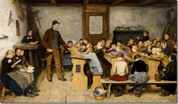 The village school in 1848 (Die Dorfschule von 1848), 1896, Albert Anker