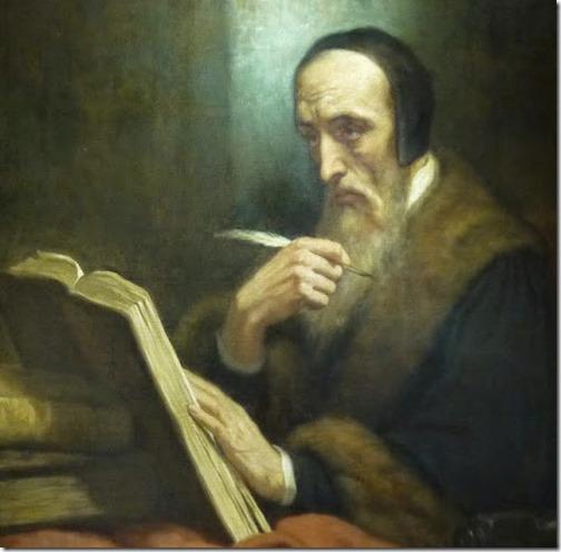DETAIL: Portrait of Jean Calvin, 1858, Ary Scheffer - Instituto Poimênica