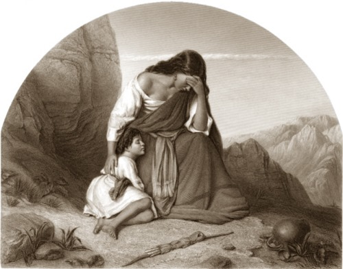 Hagar and Ishmael (Agar e Ismael), 1860, James Charles Armytage after John Heaviside Clark