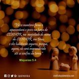 """""""Ele apascentará o povo na força do Senhor"""""""