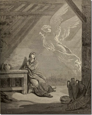 The Annunciation, 1866, Théodore Caruelle d'Aligny, after Gustave Doré