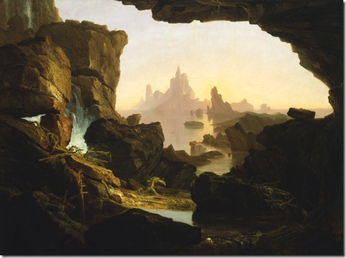 The Subsiding of the Waters of the Deluge (A diminuição das águas do Dilúvio), 1829, Thomas Cole