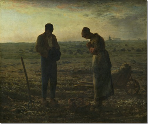 The Angelus (L'Angelus), from 1857 until 1859, Jean-François Millet