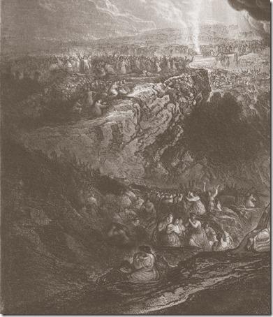 DETAIL: The Destruction of Pharaoh's Host (A Destruição do Exército de Faraó), 1833, James Charles Armytage, after John Martin