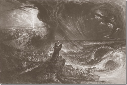 The Destruction of Pharaoh's Host (A Destruição do Exército de Faraó), 1833, James Charles Armytage, after John Martin