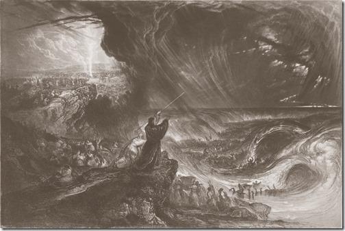 The Destruction of Pharaoh's Host (A Destruição do Exército de Faraó), 1833, James Charles Armytage, after John Martin