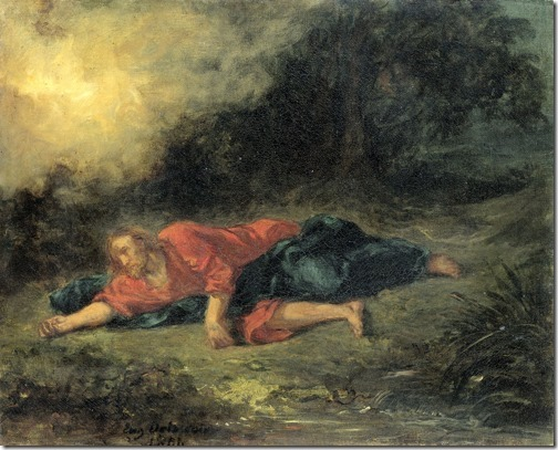 The Agony in the Garden (Christus in Gethsemané / A Agonia no Jardim), 1851,  Eugène Delacroix