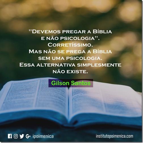 Pregação Bíblica e Psicologia – Gilson Santos