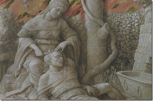 DETAIL: Samson and Delilah (Dalia und Samson / Sansão e Dalila), ca. 1500, Andrea Mantegna