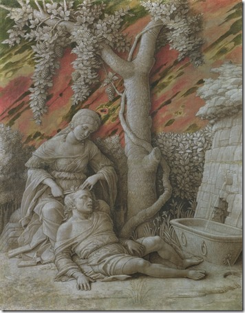 Samson and Delilah (Dalia und Samson / Sansão e Dalila), ca. 1500, Andrea Mantegna