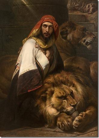 Daniel in the Lion's Den (Daniel dans la fosse aux lions / Daniel na Cova dos Leões), 1857, Horace Vernet