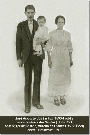 José Augusto dos Santos, Esposa e primeiro filho - 1918