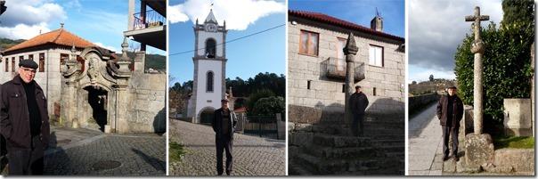 Gilson Santos em visita à antiga Câmara, Igreja Paroquial, Pelourinho e Cruzeiro na freguesia de Aboadela