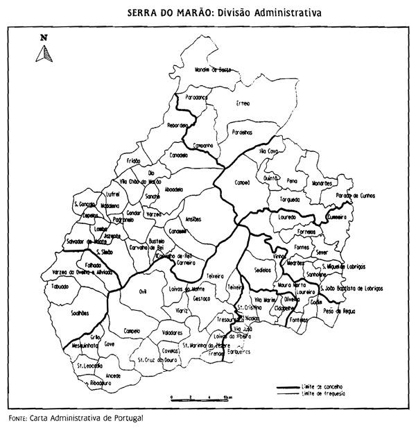 Divisão Administrativa na Serra do Marão (até 2013)