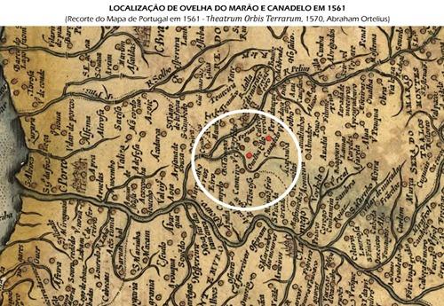 Localização de Ovelha do Marão e Canadelo em 1561