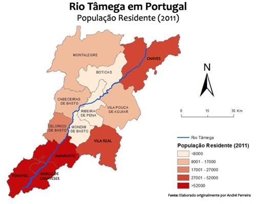 Rio Tâmega em Portugal - População Residente (2011)
