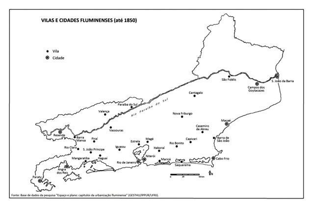 Vilas e Cidades Fluminenses (até 1850)