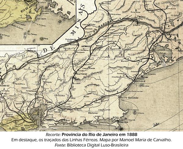 Recorte: Província do Rio de Janeiro em 1888