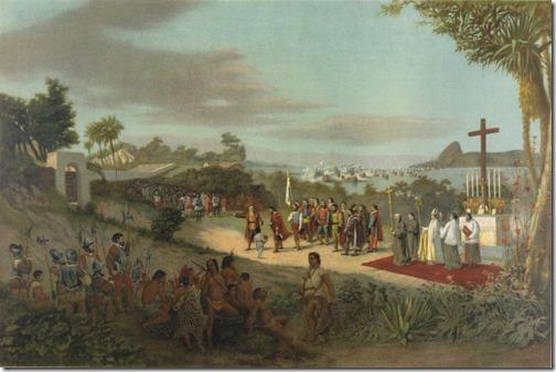 Fundação da cidade do Rio de Janeiro, 1881, Antônio Firmino Monteiro (Pintor Paisagista Brasileiro, 1855-1888)