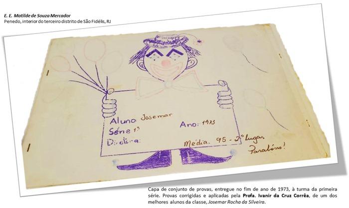 Prova aplicada pela professora Ivanir da Cruz Corrêa, 1973